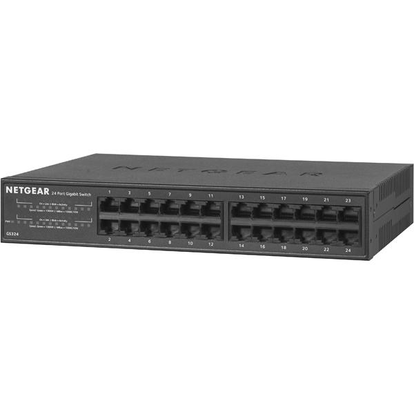 Giga対応 24ポート レイヤー2アンマネージ スイッチ GS324